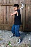 мальчик batter Стоковая Фотография RF