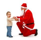 мальчик claus маленький santa совместно Стоковая Фотография RF