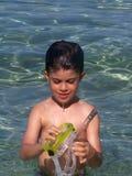 мальчик google Стоковое Изображение RF
