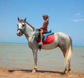 мальчик horseback Стоковые Фото
