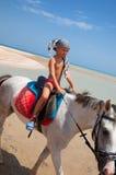 мальчик horseback Стоковое фото RF