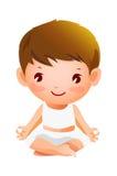 Мальчик meditating Стоковая Фотография RF