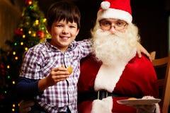 мальчик santa Стоковое Изображение RF