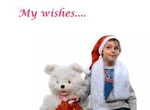 мальчик santa Стоковое Фото