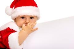 Мальчик Santa Claus. Портрет. Стоковые Изображения RF