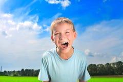 мальчик screaming Стоковое Изображение RF