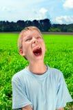 мальчик screaming Стоковые Фотографии RF