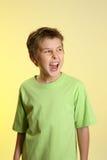 мальчик screaming Стоковая Фотография