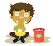 мальчик snizzing Стоковые Фотографии RF