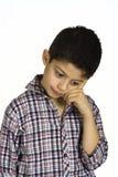 Мальчик Thinkig Стоковое Изображение RF