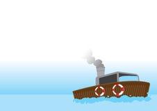 Малюсенькая рыбацкая лодка бесплатная иллюстрация