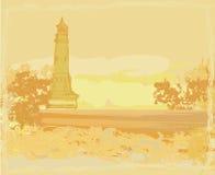 малюсенькое пляжа увиденное маяком Стоковое фото RF