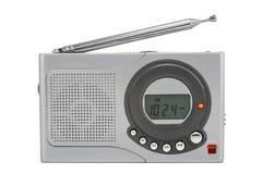 малюсенькое радио серебристое Стоковые Изображения