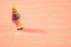 мама влюбленности девушки i принципиальной схемы Стоковые Изображения