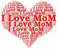 Мама влюбленности облака i слова Стоковое Изображение