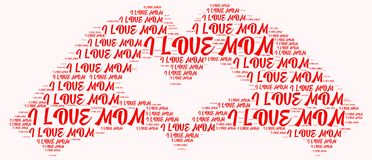 Мама влюбленности облака i слова Стоковое Фото