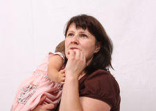 мама дочи Стоковое Изображение