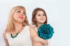 Мама и девушка Стоковые Фото