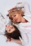 Мама и девушка Стоковое Изображение RF