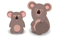 Мама и новичок коалы Стоковая Фотография