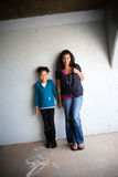 Мама и дочь стоковое изображение