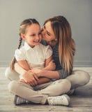Мама и дочь Стоковые Фотографии RF