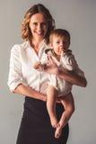Мама и ребёнок дела Стоковое Фото