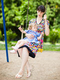мама младенца Стоковые Изображения RF
