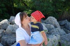 мама дочи счастливая Стоковая Фотография RF