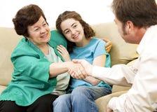 мама советника предназначенная для подростков стоковое фото