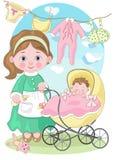 Мама с младенцем Стоковое Изображение RF