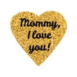 Мама, я тебя люблю Стоковое Фото