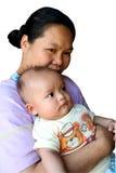 мама 2 младенцев Стоковое Изображение