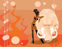 мамонтовая женщина Стоковое Изображение