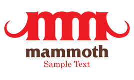 Мамонтовый логос Стоковые Изображения