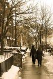 МАМЫ Бостона улицы Newbury Стоковое Изображение RF