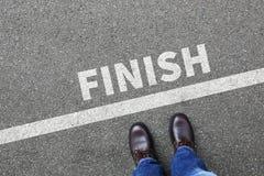 Мамы дела бизнесмена гонки успеха финишной черты выигрывая идущие Стоковая Фотография