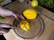 Отрезок мангоа салата Romaine Стоковые Изображения RF