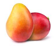 2 манго при изолированные куски Стоковые Фото
