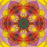 Мандала абстрактной радуги полигональная Стоковое Изображение RF