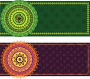 мандала граници знамени цветастое Стоковое Изображение RF