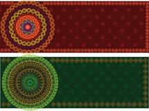 мандала граници знамени цветастое Стоковое Изображение