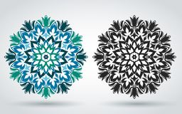 мандала декоративная флористическая картина Восточный, индийский, турецкие, исламский орнамент Шаблон для украшать ткани, знамена иллюстрация вектора