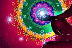 Мандала и свет раздумья Стоковые Изображения