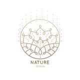 Мандала логотипа Стоковая Фотография