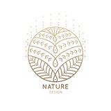 Мандала логотипа Стоковое Изображение