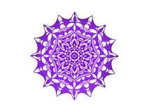 мандала пурпурово вектор орнамента круглый иллюстрация вектора