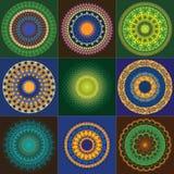 Мандала хны цвета Стоковые Фотографии RF