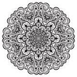 Мандала цветка. Абстрактный элемент для дизайна иллюстрация штока