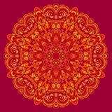 Мандала цветка. Абстрактный элемент для дизайна бесплатная иллюстрация